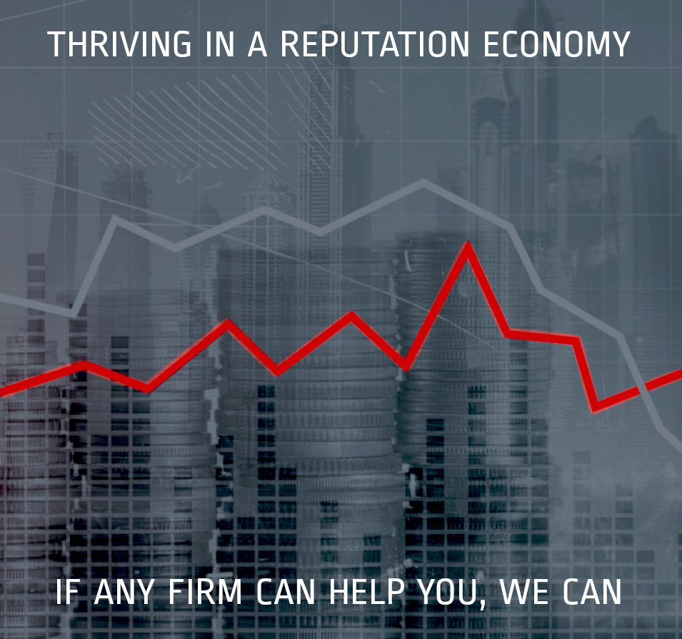 thriving in a reputation economy image with graph